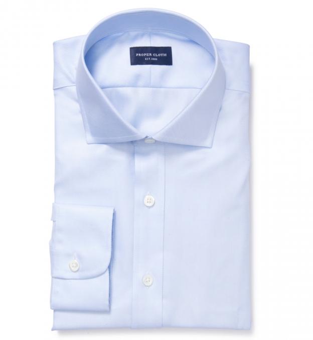 Thomas Mason Light Blue Wrinkle-Resistant Imperial Twill