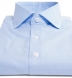 Morris Light Blue Wrinkle-Resistant Houndstooth Shirt Thumbnail 3