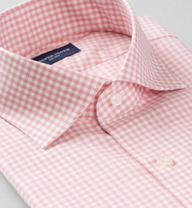 Non-Iron Supima Red End-on-End Gingham
