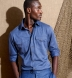 Canclini Melange Slate Blue Knit Pique Shirt Thumbnail 3