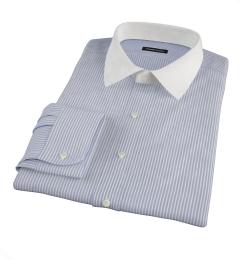 Canclini Blue Grey Alternating Stripe Custom Dress Shirt