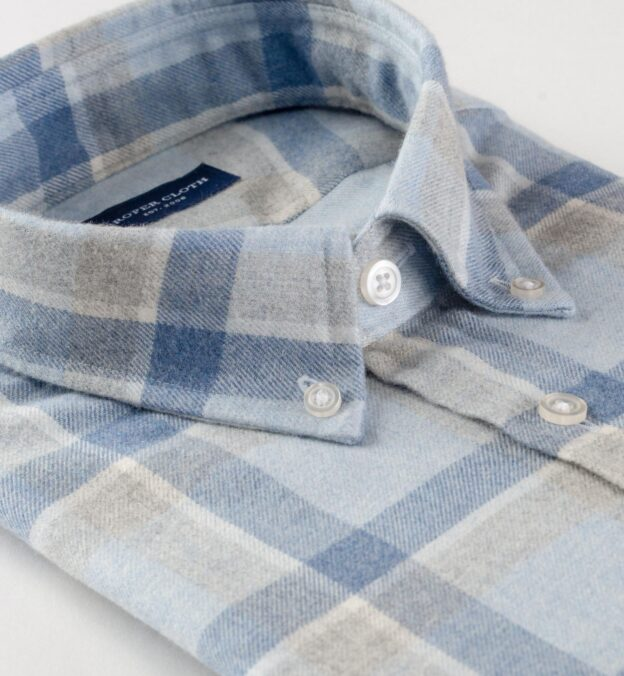 Canclini Frost Blue Shadow Plaid Beacon Flannel