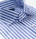 DJA Sea Island Royal Blue Bengal Stripe Shirt Thumbnail 2