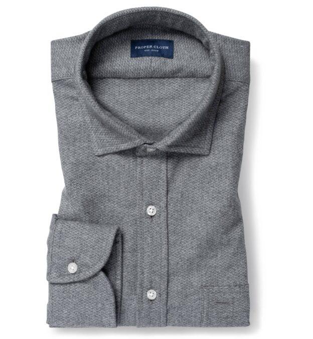 Canclini Grey Large Birdseye Beacon Flannel