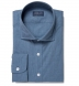 Bleecker Steel Blue Melange Popover Shirt Thumbnail 1