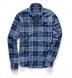 Navy Linen Blend Multi Plaid Shirt Thumbnail 3