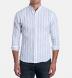 Portuguese Light Blue Wide Stripe Cotton Linen Blend Shirt Thumbnail 3