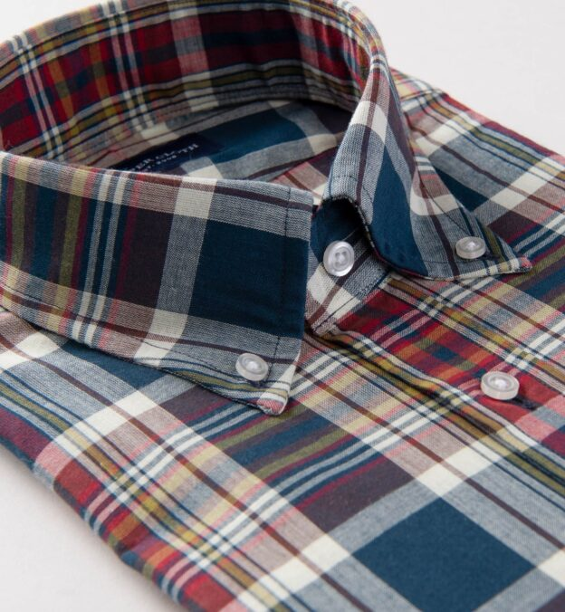 Navy and Red Indian Madras