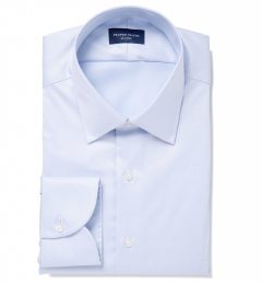 Hudson Light Blue Wrinkle-Resistant Twill Tailor Made Shirt