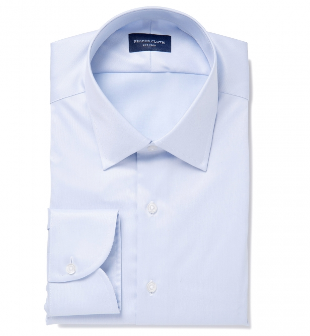 Hudson Wrinkle-Resistant Light Blue Twill Tailor Made Shirt