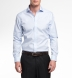 Essential Light Blue Wrinkle-Resistant Pinpoint Shirt Thumbnail 5
