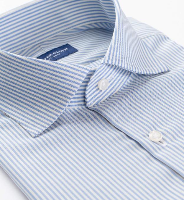 Reda Light Blue Stripe Merino Wool