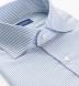 Reda Light Blue Stripe Merino Wool Shirt Thumbnail 2
