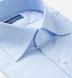 Thomas Mason Goldline Light Blue Small Check Shirt Thumbnail 2
