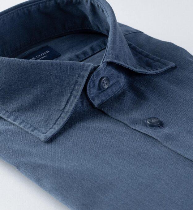 Albiate Washed Lightweight Slate Blue Denim