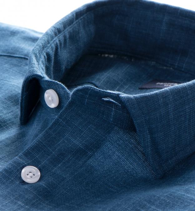 Washed Japanese Blue Slub Weave