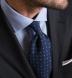 Mayfair Wrinkle-Resistant Light Blue Houndstooth Shirt Thumbnail 4