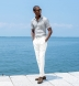 Albini Grey Melange Tencel Shirt Thumbnail 3