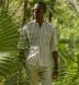Beige and White Southwest Jacquard Stripe Shirt Thumbnail 2