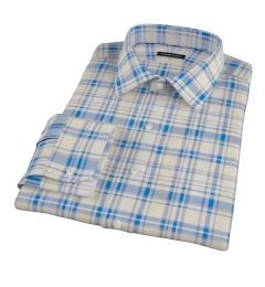 Yellow and Blue Organic Madras Fitted Shirt