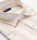 Portuguese Beige Extra Wide Stripe Cotton Linen Oxford Shirt Thumbnail 2