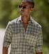 Mesa Fatigue and Brown Cotton Linen Vintage Plaid Shirt Thumbnail 3