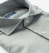 Thomas Mason Washed Sage Melange Cotton Linen Oxford Shirt Thumbnail 2