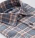 Satoyama Light Orange and Slate Plaid Flannel Shirt Thumbnail 2