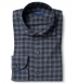 Vail Navy and Grey Gingham Lightweight Flannel Shirt Thumbnail 1