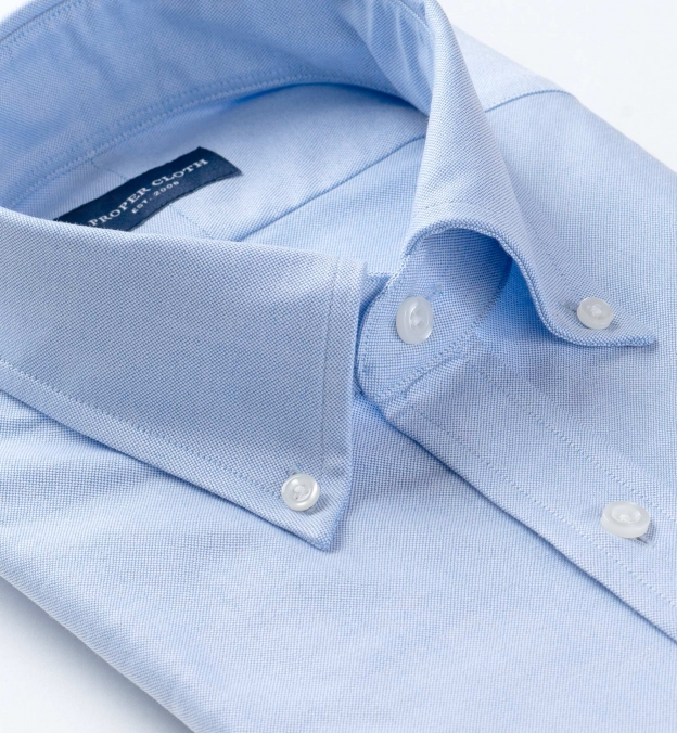 Light Blue Heavy Oxford Soft Ivy Button Down