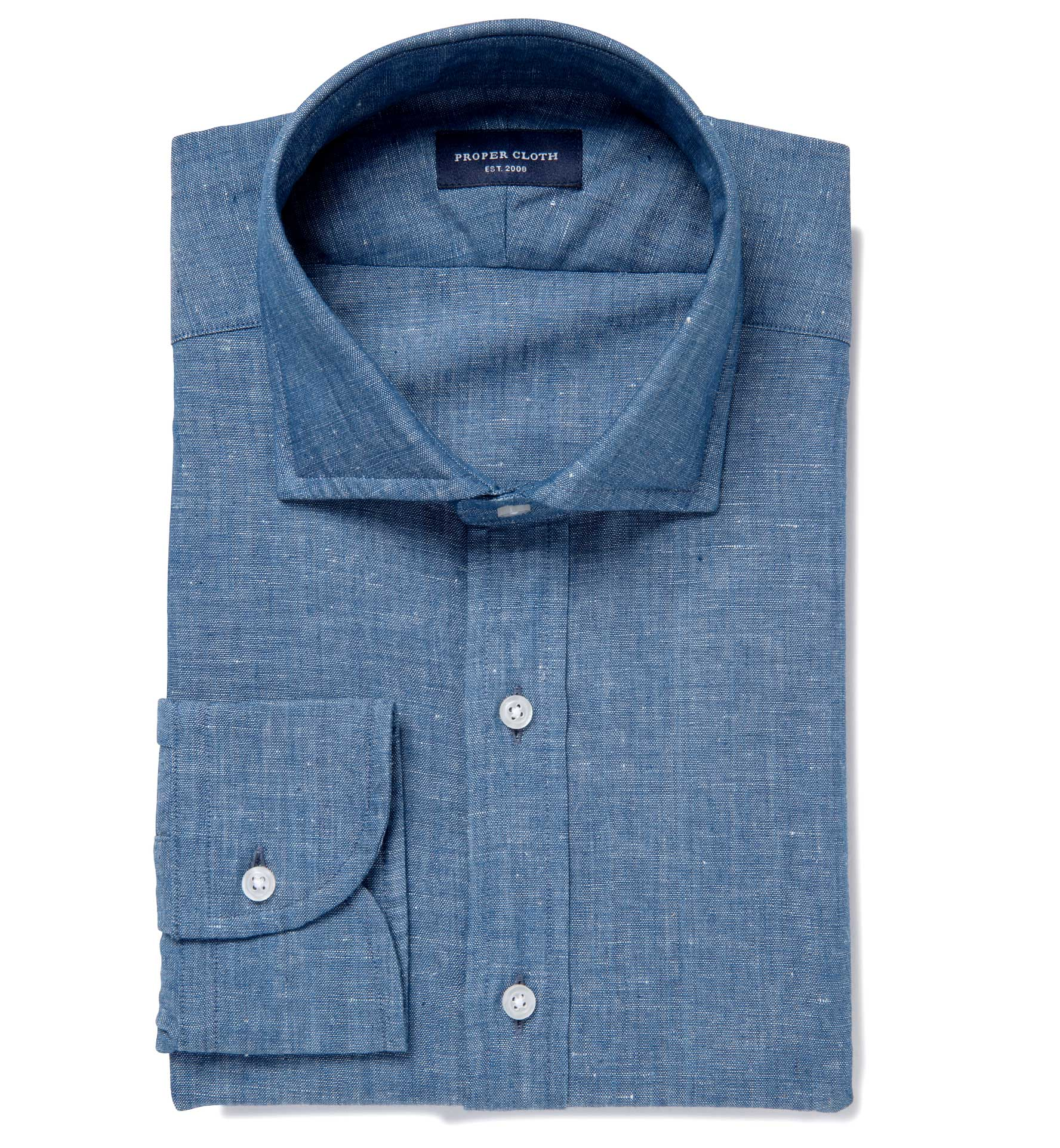 Japanese Cotton And Linen Chambray Mens Dress Shirt By Proper Cloth