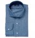 Japanese Cotton and Linen Chambray Shirt Thumbnail 1
