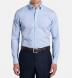 Non-Iron Supima Blue Pinpoint Button Down Shirt Thumbnail 3