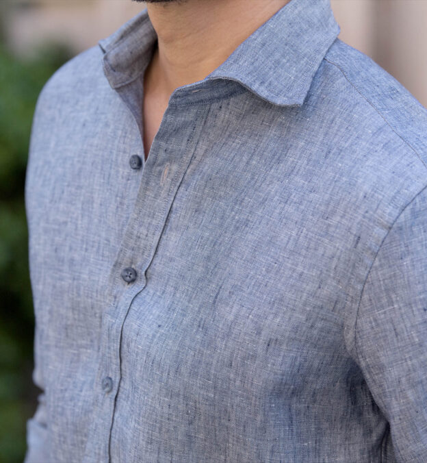 Vittoria Chambray Blue Linen