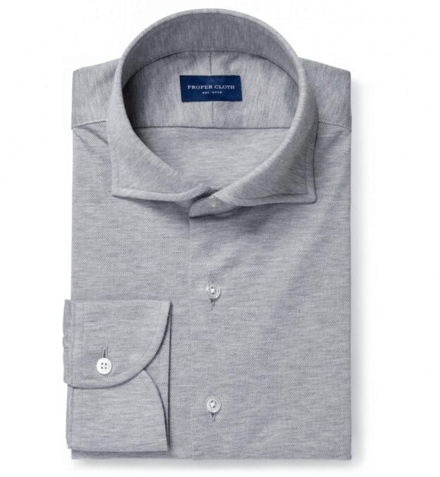 Canclini Melange Grey Knit Pique