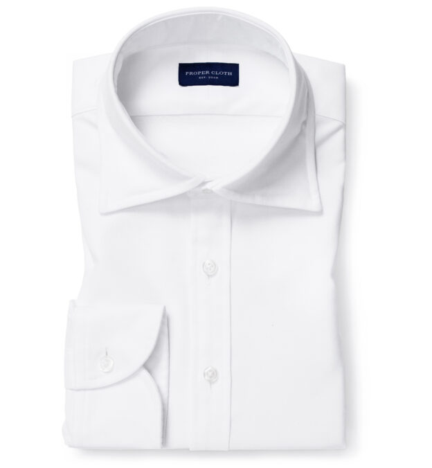 Thomas Mason White Comfort Oxford