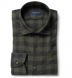 Stowe Fatigue and Charcoal Melange Gingham Flannel Shirt Thumbnail 1