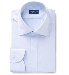 Hudson Wrinkle-Resistant Light Blue Twill Custom Made Shirt
