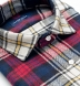 Scarlet Navy and Yellow Plaid Country Flannel Shirt Thumbnail 2