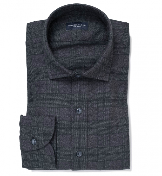 Canclini Charcoal Tonal Plaid Beacon Flannel