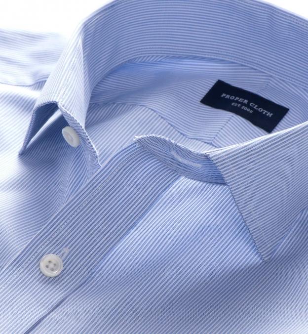 Thomas Mason Blue Stripe