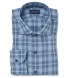 Bleecker Light Blue and Grey Melange Large Plaid Shirt Thumbnail 1