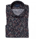 Albini Navy Digital Floral Print Shirt Thumbnail 1