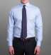 Morris Light Blue Wrinkle-Resistant Houndstooth Shirt Thumbnail 5