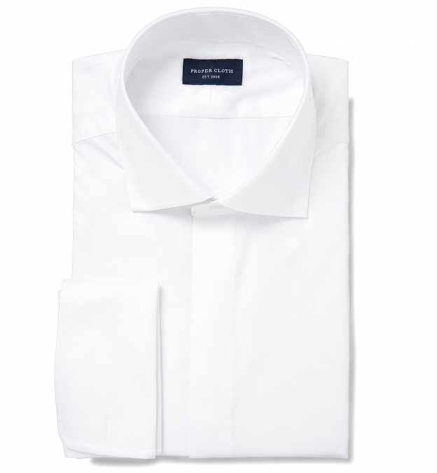 Lafayette White Twill Covered Placket Tuxedo