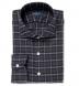 Albiate Grey Melange Plaid Flannel Shirt Thumbnail 1