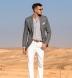 Grey Melange Cotton Linen Blend Shirt Thumbnail 3