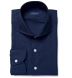 Portuguese Navy Cotton Linen Oxford Shirt Thumbnail 1