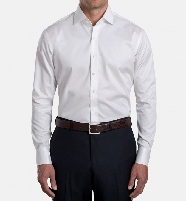 Mayfair Wrinkle-Resistant White Twill