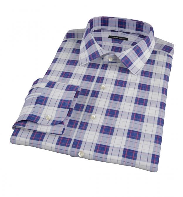Canclini Etna Plaid Men's Dress Shirt